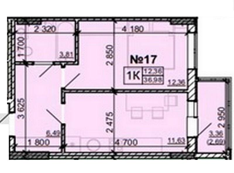 1-но комнатные квартиры от 26 кв.м.