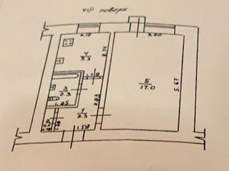 1-но комнатная квартира на Михайловской улице