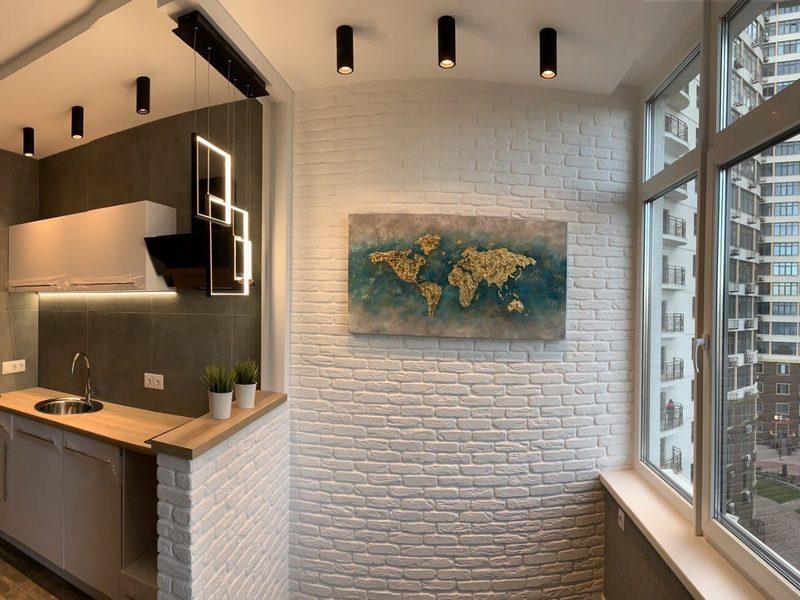 Стильная 1-но комнатная квартира с ремонтом у моря.
