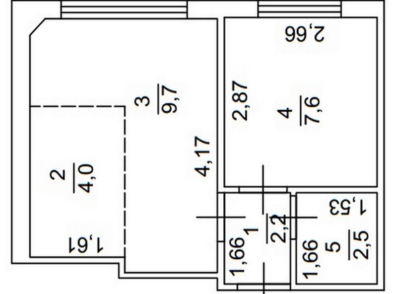 1-но кімнатна квартира на вул. Ак. Королева