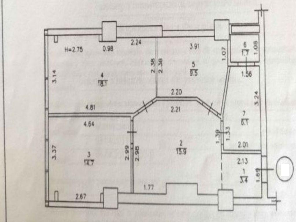 Аренда офиса в ЖК Армейский 75 кв.м