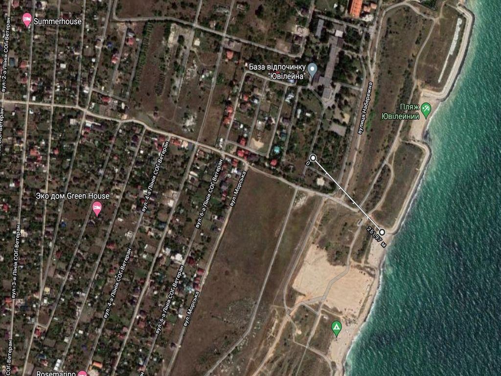 Земельна ділянка біля моря. Чорноморська.