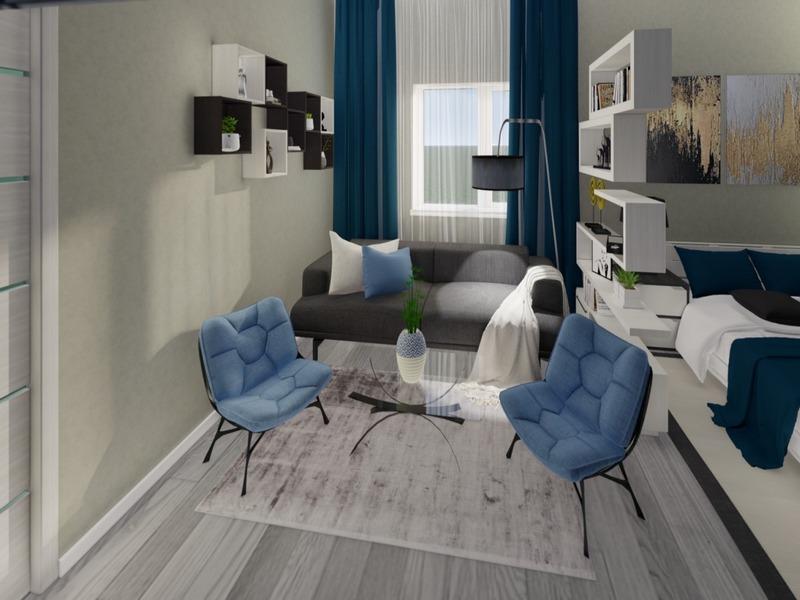 1-но комнатная квартира с ремонтом в новом доме