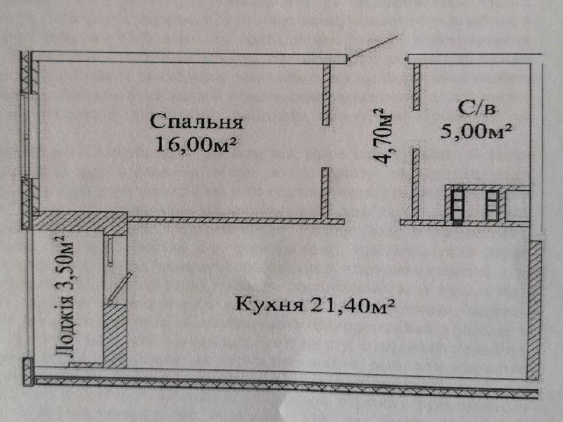 """жк """"Михайлівський"""", велика одиничка, новобуд"""