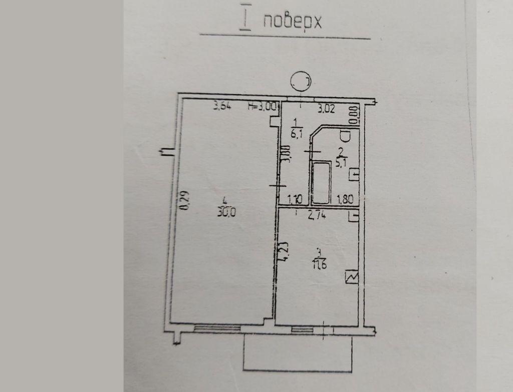 Испанский пер./Парковая. Большая 1-но комнатная квартира.