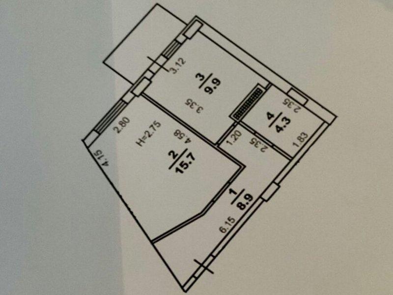 """1-но кімнатна квартира ЖК """"Континент"""""""