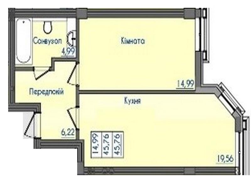 """1-но кімнатні квартири в клубному будинку """"Консул"""""""