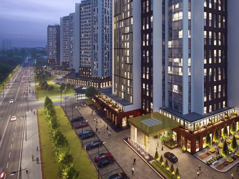 Новый жилой комплекс «60 и 61 Жемчужина» на улице Краснова.