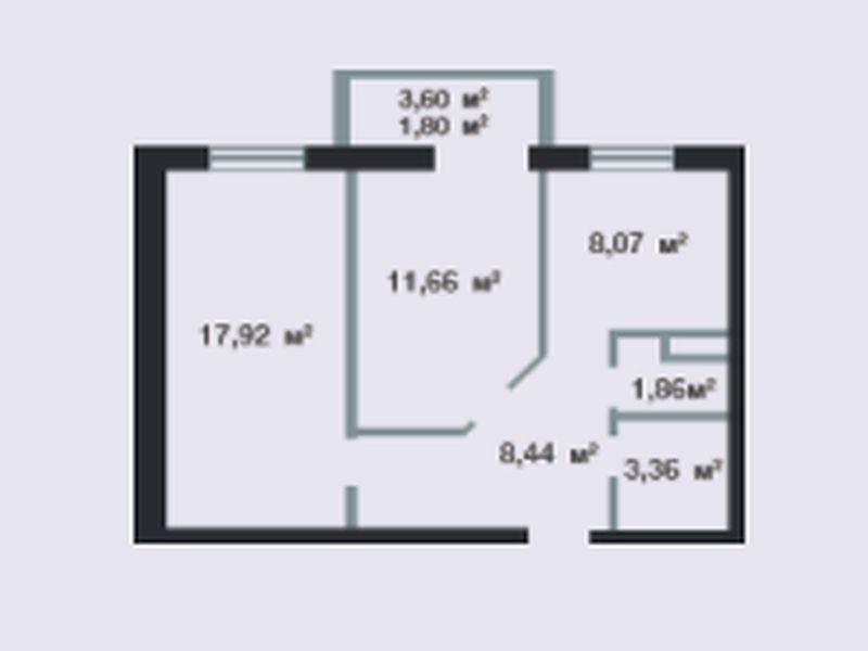 2-х комнатная квартира жк «Новосел»