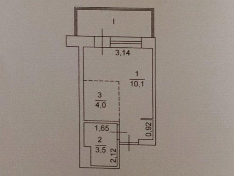 1-но комнатная квартира с ремонтом на Ак. Королева